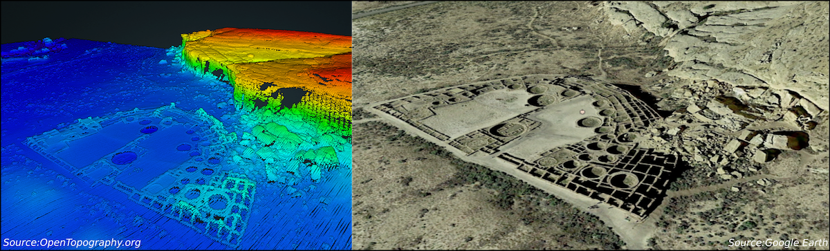 New lidar dataset covering Chaco Canyon, New Mexico | OpenTopography