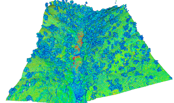 Point cloud of intensity gradient