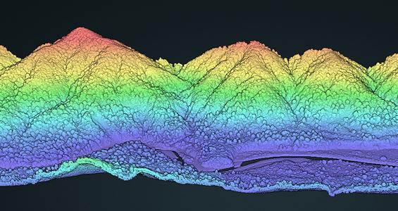 Wellington Fault point cloud visualization