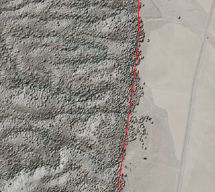 Hillshade along Kern Canyon with faults