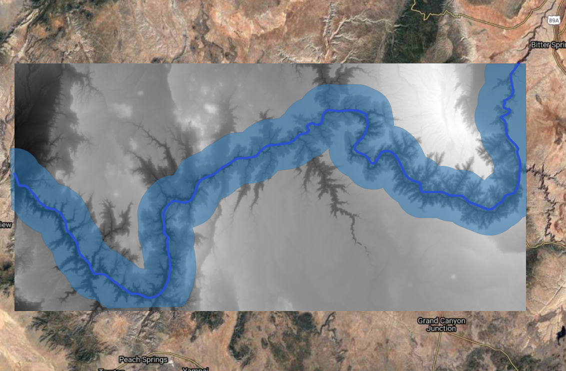 Grand Canyon Basemap with Tiles
